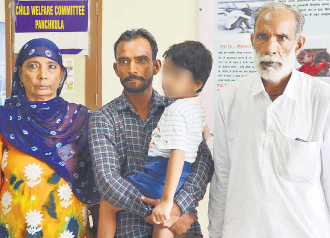 5-year-old Panipat boy reunited with his family
