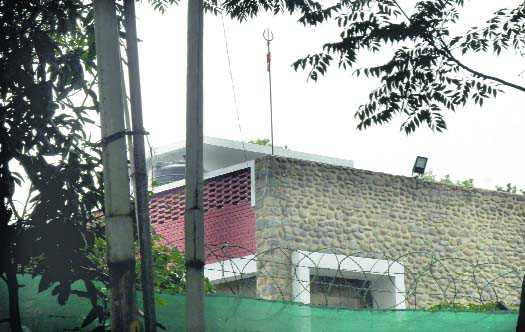 Security ring, trishul adorn VC's residence