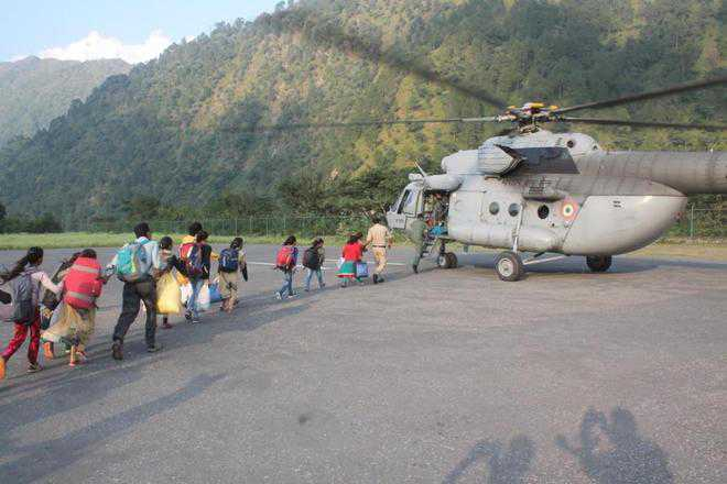 36 students airlifted from Chamba