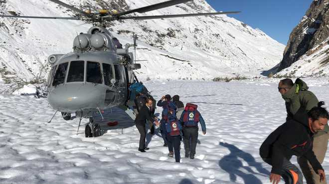 IAF rescues people stranded on Himachal's higher reaches