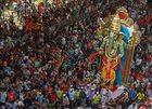 Hindu devotees carry an idol of Hindu God Ganesh to be installed at a pandal ahead of Ganpati festival, in Mumbai on September 8, 2018. PTI photo