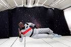 Retired sprinter Usain Bolt poses as he enjoys zero gravity conditions during a flight in a specially modified plane above Reims, France, on September 12. Reuters