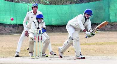 Dev's  ton helps AKSIPS to 119-run win