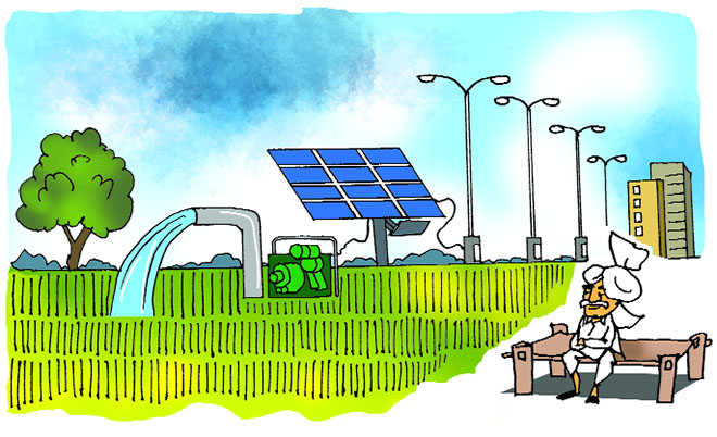 Solar pump sets to generate income for farmers