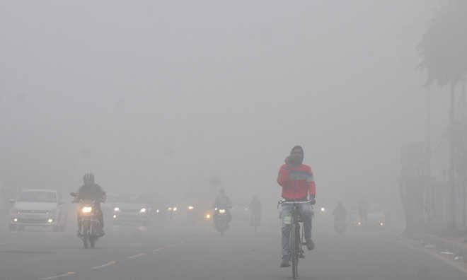 Foggy Saturday morning in Delhi