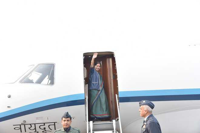 Swaraj on 2-day visit to Uzbekistan; to attend first India-Central Asia Dialogue