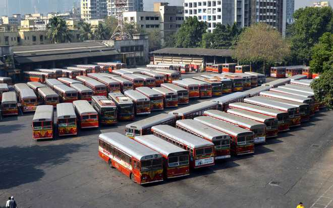 School buses ferry commuters as bus strike enters fifth day