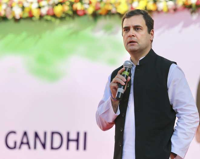 Not disappointed with BSP-SP tie-up as long as they keep BJP out of power: Rahul