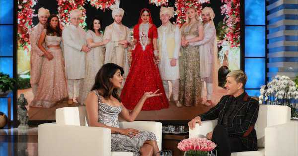 Priyanka Chopra opens up about her lavish wedding on Ellen DeGeneres'' show