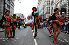 Dancers perform during the New Year's Day parade in London, Britain, January 1, 2019. Reuters