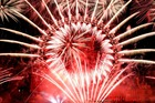 Fireworks explode around the London Eye during New Year's celebrations in central London just after midnight on January 1, 2019. AFP