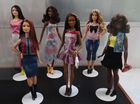 Barbie doll prototypes are displayed at a workshop in the Mattel design center as the iconic doll turns 60, in El Segundo, on December 7, 2018. — AFP