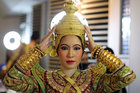 A dancer poses backstage before a performance of masked theatre known as Khon which was recently listed by UNESCO, the United Nations cultural agency, as an intangible cultural heritage, along with neighbouring Cambodia's version of the dance, known as Lakhon Khol at the Thailand Cultural Centre in Bangkok, Thailand November 7, 2018. Reuters