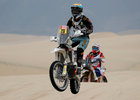 Dakar Rally - 2019 Peru Dakar Rally - First stage from Lima to Pisco, Peru - January 7, 2019 Klicen KTM R2Rs Armand Monleon in action during the race. — Reuters