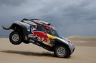 Dakar Rally - 2019 Peru Dakar Rally - First stage from Lima to Pisco, Peru - January 7, 2019 X-Raid Mini JCWs driver Cyril Despres and co-driver Jean Cottret in action during the race. — Reuters