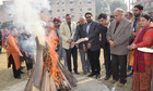 Lohri was celebrated at KCL Institute of Management and Technology and Lyallpur Khalsa College of Engineering in Jalandhar. Tribune Photo: Malkiat Singh