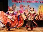 Artists perform cultural programme during Lohri and Sankranti celebration in Kurukshetra. Tribune Photo.
