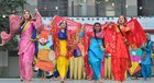Students and teachers of Police DAV School perform a cultural programme during celebrated Lohri in school campus Jalandhar Cantt on Friday. Tribune Photo: Malkiat Singh
