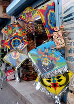 City markets flooded with colourful kites
