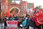 CPI protests chargesheet against Kanhaiya Kumar, eight others