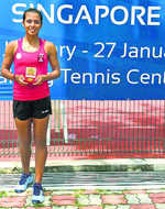 Ankita in red-hot form, wins first singles title of season