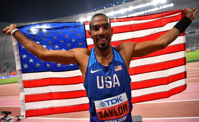 Taylor wins fourth triple jump title after shaky start
