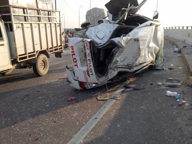 Jawan killed as Majithia's security vehicle collides with truck in Moga