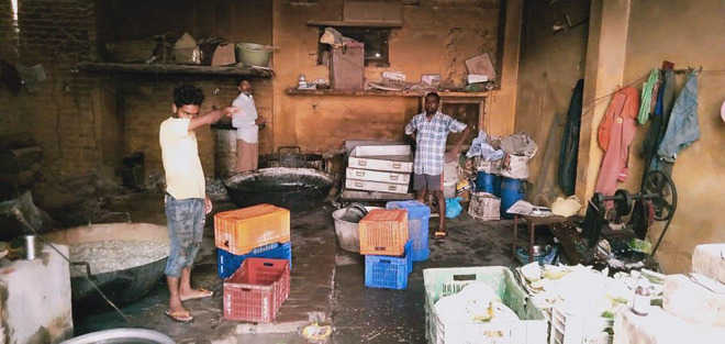 Sweets being prepared in unhygienic conditions seized