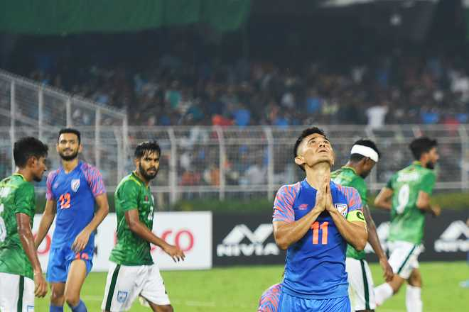 WC qualifier: Adil Khan's late strike helps India draw Bangladesh 1-1