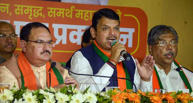 Maha BJP releases manifesto, vows 5 crore jobs in 5 years