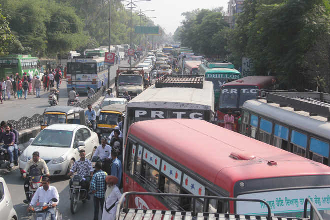 PRTC staff lay siege to bus stand