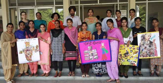 Students take part in collage-making contest