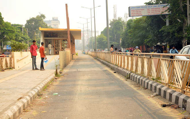 BRTS staff's protest leaves commuters inconvenienced