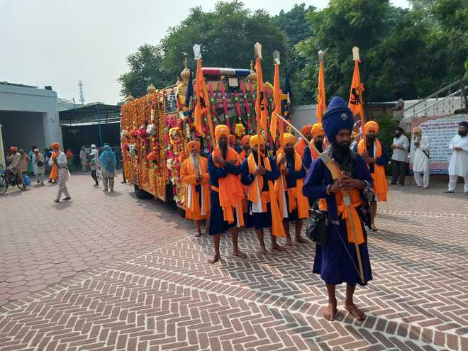 Nagar kirtan gets warm welcome at Khadoor Sahib