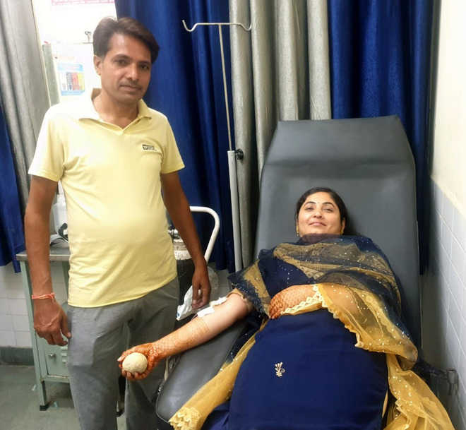 Donating blood on Karva Chauth