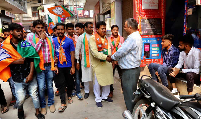 BJP candidate vows to make Panchkula smart, slum-free