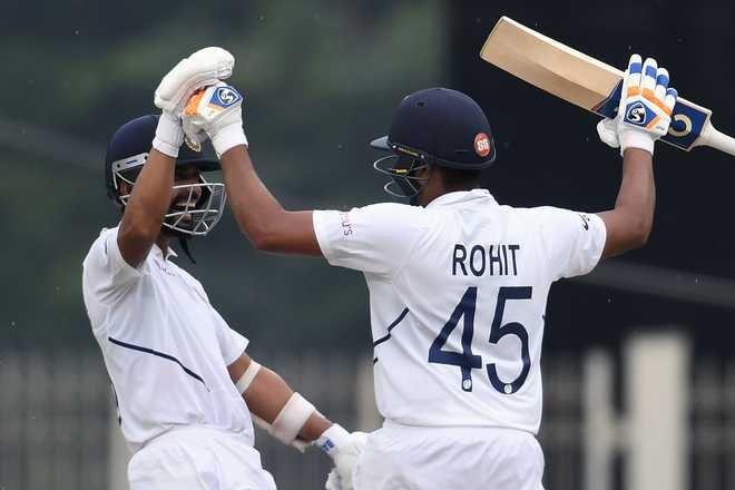 Unstoppable Rohit powers India to 224/3 before rain forces early end on Day 1