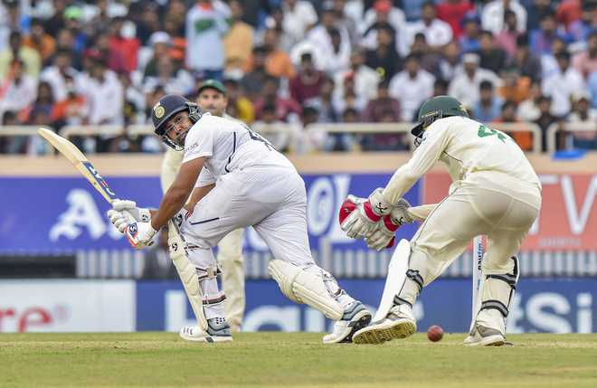 Rohit's maiden double century puts India on top in Ranchi Test