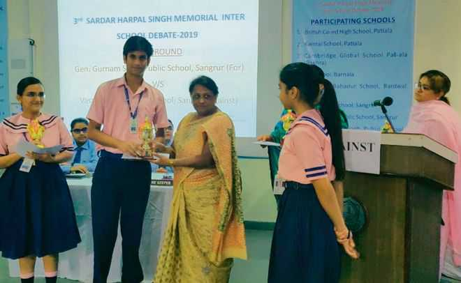 GGS Public School students shine in debate competition