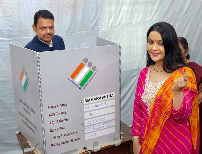 Exit polls forecast clear majority for BJP in Maharashtra