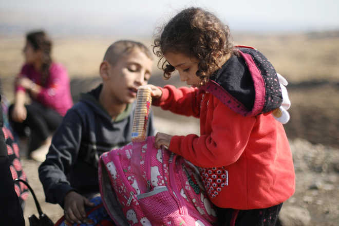 70,000 children displaced by NE Syrian violence