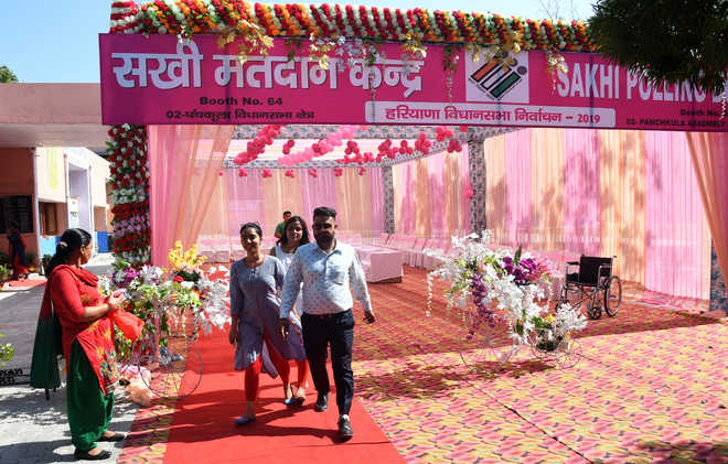 Pink booth records 12% voting in Panchkula