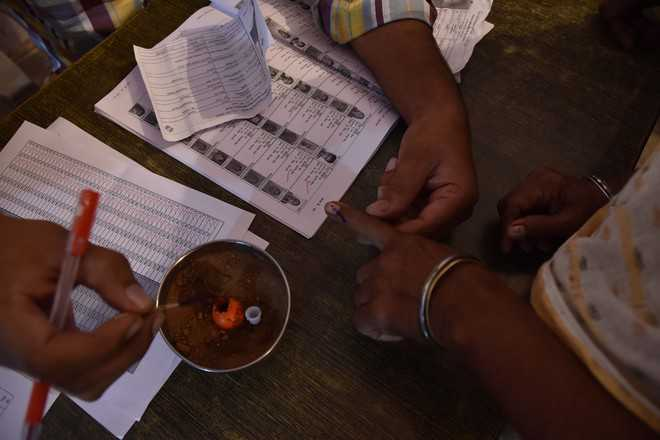 71.64 pc polling recorded in Dakha Assembly seat