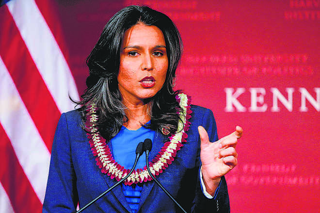 Outrageous to suggest Tulsi Gabbard ''is a foreign asset'': Sanders