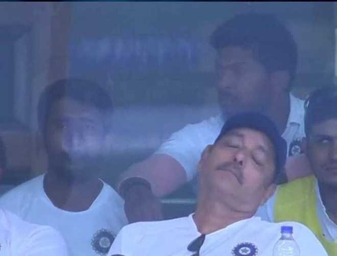 Ravi Shastri takes nap during India-SA match; Internet is amused