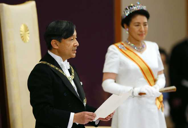 Naruhito officially proclaims himself Emperor of Japan