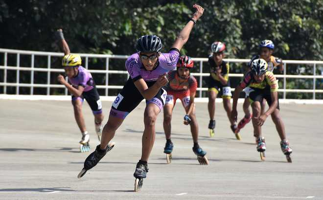 Patiala clinch four gold medals on Day 3 of skating championship