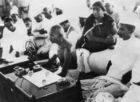 In this file photo taken on November 5, 1934 Mahatma Gandhi, delivers a speech at the All-India Congress Committee in Mumbai. — AFP