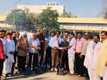 LIT initiates road carpeting work at Valmiki Nagar