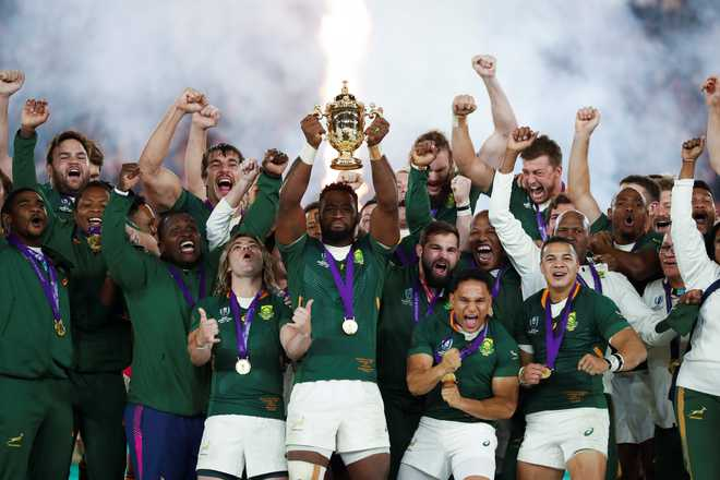 South Africa Stuns England To Win Rugby World Cup The Tribune India